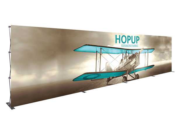 Hop-Up 30' FRONT Graphic Display - Straight 12x3 - Backwall / Inline Display