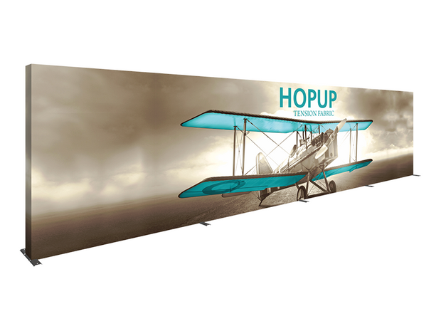 Hop-Up 30' FULL Graphic Display - Straight 12x3 - Backwall / Inline Display