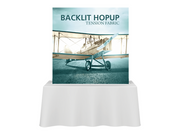 Hop-Up Tabletop 5' FULL Graphic BACKLIT KIT - Straight 2x2 - Tabletop Display