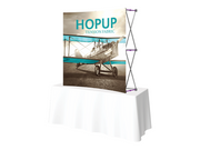 Hop-Up Tabletop 5' FRONT Graphic - Curved 2x2