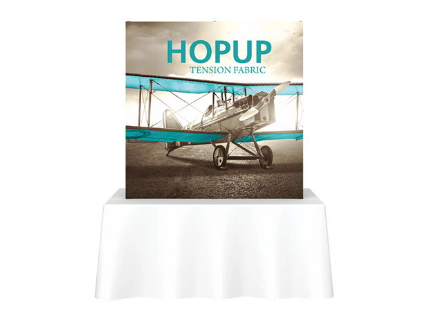 Hop-Up Tabletop 5' FULL Graphic - Straight 2x2 - Tabletop Display