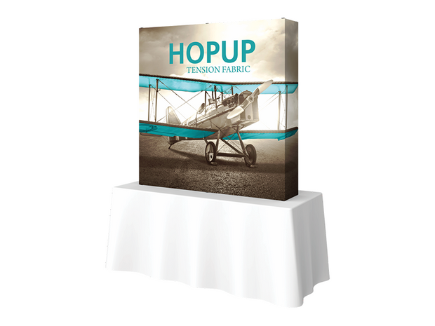 Hop-Up Tabletop 5' FULL Graphic - Straight 2x2