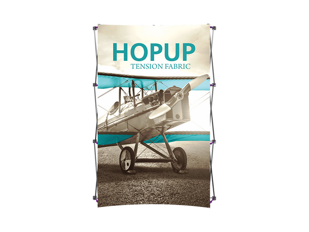 Hop-Up 6' FRONT Graphic Display - Curved 2x3 - Backwall / Inline Display