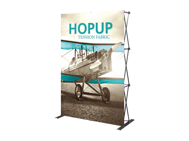Hop-Up 6' FRONT Graphic Display - Straight 2x3