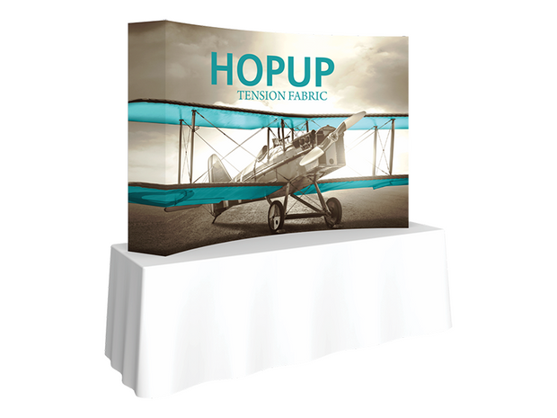 Hop-Up Tabletop 8' FULL Graphic - Curved 3x2