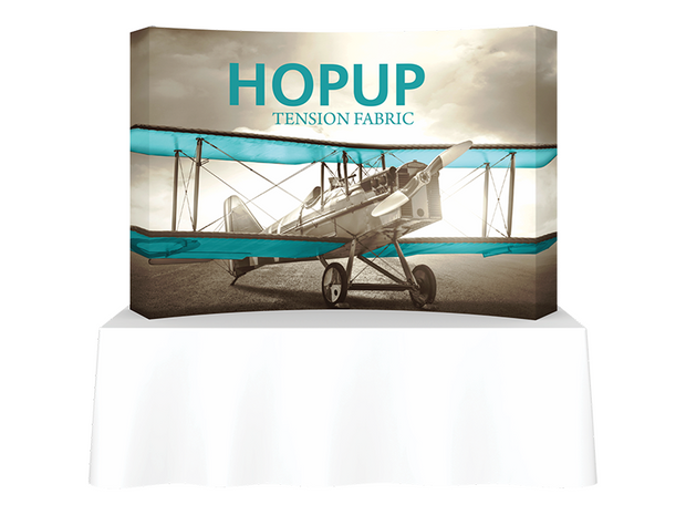 Hop-Up Tabletop 8' FULL Graphic - Curved 3x2 - Tabletop Display