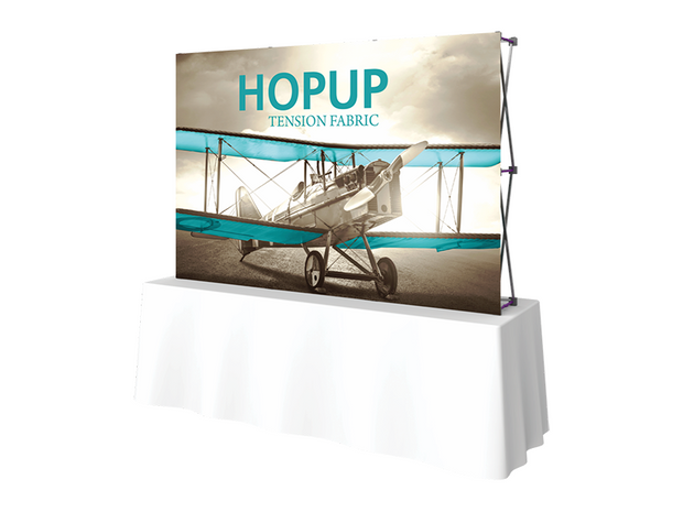 Hop-Up Tabletop 8' FRONT Graphic - Straight 3x2 - Tabletop Display