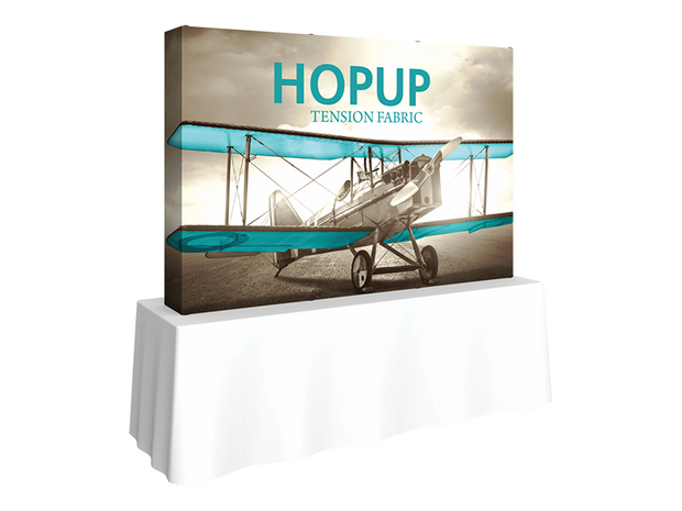 Hop-Up Tabletop 8' FULL Graphic - Straight 3x2 - Tabletop Display
