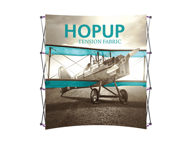Hop-Up 8' FRONT Graphic Display - Curved 3x3 - Backwall / Inline Display