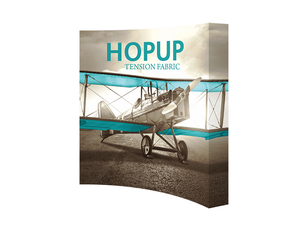 Hop-Up 8' FULL Graphic Display - Curved 3x3