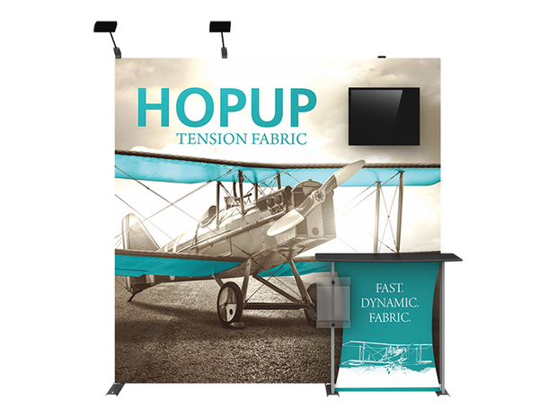 Hop-Up 8' FULL Graphic MONITOR Display KIT - Straight 3x3