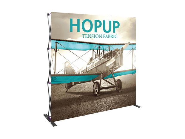 Hop-Up 8' FRONT Graphic Display - Straight 3x3