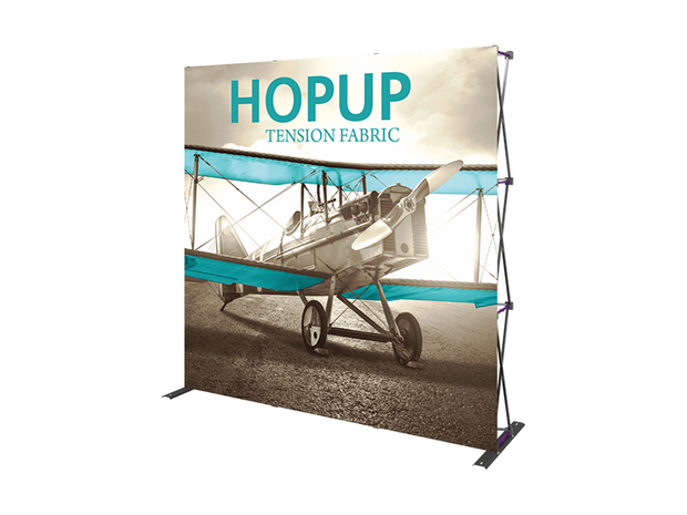 Hop-Up 8' FRONT Graphic Display - Straight 3x3 - Backwall / Inline Display