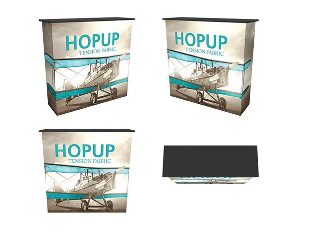 Hop-Up Collapsible Graphic Counter with Shelf - Booth Accessory