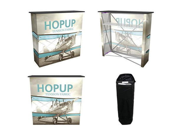 Hop-Up 8' FULL Graphic Display - Straight 3x3 - Backwall / Inline Display
