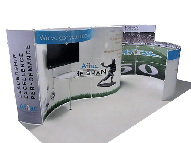 Lite Modular 20' Inline Exhibit LM-20G - Backwall / Inline Display