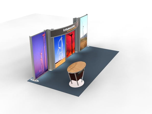 SEGUE Hybrid 20' Inline Exhibit - Lightbox KIT VK-2317