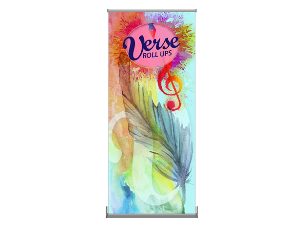 Verse-1 Rollup 35x83 Banner Stand – Single Sided - Banner Stand