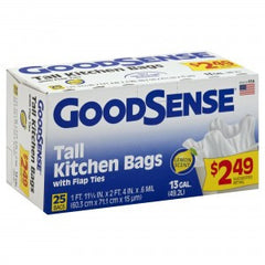 GOODSENSE BLUE RECYCLING TALL KITCHEN BAGS - 13 GALLONS