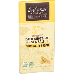 SALAZON DARK CHOCOLATE SEA SALT TURBINADO SUGAR