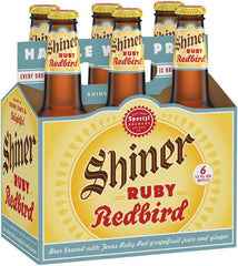 SHINER RUBY REDBIRD SEASONAL BEER - 12 OZ EACH BOTTLE