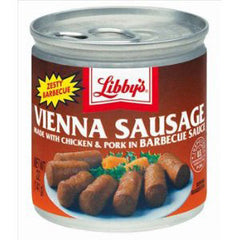 LIBBY'S VIENNA SAUSAGE MADE WITH CHICKEN & PORK IN BBQ SAUCE