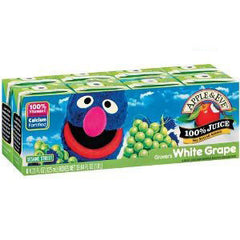 APPLE & EVE SESAME STREET WHITE GRAPE JUICE - 8 PACK