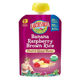 EARTH'S BEST ORGANIC BANANA RASPBERRY BROWN RICE FRUIT & GRAIN PUREE