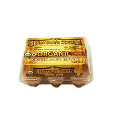 NATURE'S YOKE ORGANIC CAGE FREE LARGE BROWN EGGS
