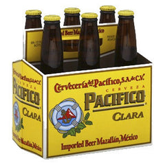 PACIFICO CLARA BEER 6 PACK - 12 FL OZ EACH GLASS BOTTLE