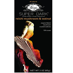 VOSGES SUPER DARK REISHI MUSHROOM & WALNUT CHOCOLATE BAR - 72% CACAO