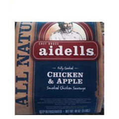 AIDELLS ALL NATURAL AWESOME APPLE HOT DOGS UNCUREDCHICKEN