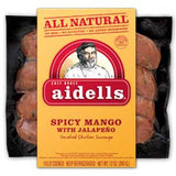 AIDELLS ALL NATURAL SPICY MANGO WITH JALAPENO SMOKED CHICKEN SAUSAGE