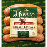 AL FRESCO ALL NATURAL CHIPOTLE CHORIZO  CHICKEN SAUSAGE