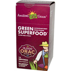 AMAZING GRASS GREEN SUPERFOOD ANTIOXIDANT BERRY DRINK POWDER