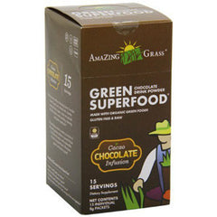 AMAZING GRASS GREEN SUPERFOOD CHOCOLATE DRINK     POWDER