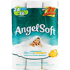 ANGELSOFT SOFT SOFTNESS AND STRENGTH BATHROOM TISSUE 24 PACK- SMALL ROLL