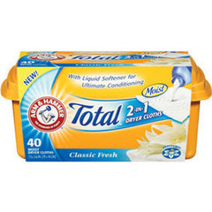 ARM & HAMMER TOTAL DRYER CLOTHES 2 IN 1 - CLASSIC