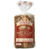 ARNOLD TRIPLE HEALTH 100% WHOLE WHEAT BREAD