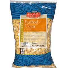 ARROWHEAD MILLS WHOLE GRAIN PUFFED CORN CEREAL - NO SALT ADDED