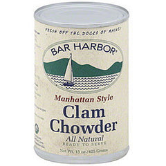 BAR HARBOR MANHATTAN STYLE CLAM CHOWDER ALL NATURAL
