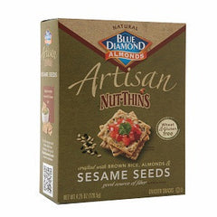 BLUE DIAMOND ARTISAN NUT THINS SESAME SEED CRACKERS SNACKS