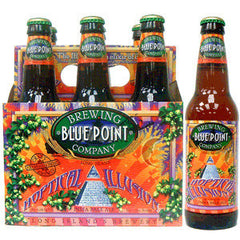 BLUE POINT HOPTICAL ILLUSION BEER