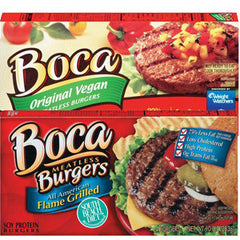 BOCA ALL AMERICAN FLAME GRILLED VEGGIE BURGER
