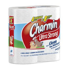 CHARMIN ULTRA STRONG 4=8 REGULAR ROLLS BATHTOOM TISSUE