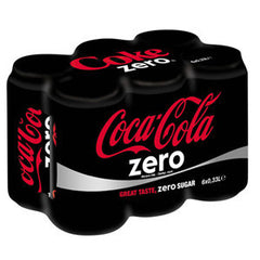 COCA COLA ZERO 6 PACK CANS