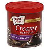 DUNCAN HINES CREAMY CLASSIC CHOCOLATE HOME-STYLE FROSTING PREMIUM