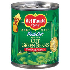 DEL MONTE NO SALT CUT GREEN BEANS