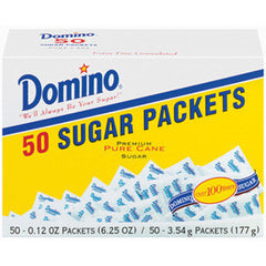 DOMINO SUGAR PACKETS 50 CT BOX