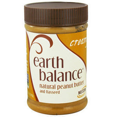 EARTH BALANCE CREAMY NATURAL PEANUT BUTTER AND FLAXSEED
